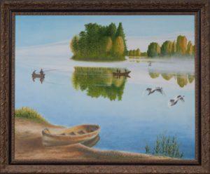 Утром на озере. Михаил Симонов.