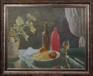 Натюрморт с красной вазой. Михаил Симонов.